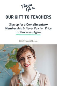 Up to 50% off groceries + free membership for TEACHERS! Eating healthy should be affordable for everyone. If it breaks your budget, we can help. Apply now for a FREE membership!