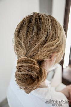 Flamboyage Effect on Blond Hair #bride