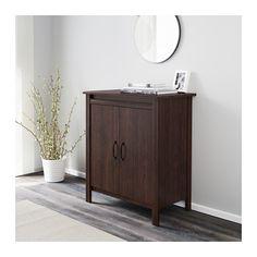 hemnes sideboard black brown hemnes and ikea. Black Bedroom Furniture Sets. Home Design Ideas