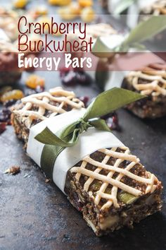 These cranberry buckwheat energy bars are the perfect, healthy snack to have on hand. Infused with fall spices, and bursting with cranberries and toasted nuts.