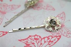 Diamante Round Hair clip One By Twinkle by twinklejewellery, £4.00