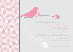 bird theme invitation