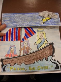 Craft for the story of Jesus calming the storm. Hands On Bible Teacher: Fruit of the Spirit-----Peace