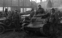 polish tankette TK-3 in Czechoslovakia. In 1938 Poland and Germany divided Czechoslovakia (though with no cooperation)