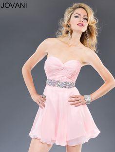 Flirty Short Pink Dress - Jovani 90088