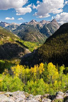 Grenadier Range in early fall (Colorado) by Guy Schmickle