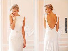 simple wedding dress | CHECK OUT MORE IDEAS AT WEDDINGPINS.NET | #weddingfashion