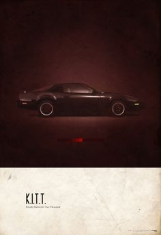 KITT - Knight Rider - Vintage Scifi car posted via 2046 Design and Automopedia. Film Cars, Movie Cars, Frames On Wall, Framed Wall Art, Kitt Knight Rider, Car Posters, Retro Posters, Movie Posters, Geek Art