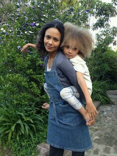 Thandie Newton and her daughter, Nico.