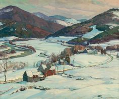 """Up the Valley,"" Aldro Thompson Hibbard, oil on canvas, 25 x 30"", private collection."