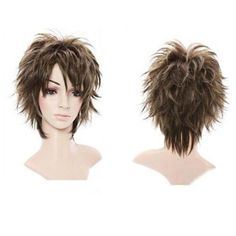 Fluffy Short Curly Light Brown Lady Full Wig New Stylish Short Women Hair – Hair Internet Short Wavy, Long Curly Hair, Wavy Hair, Short Hair Cuts, Curly Hair Styles, Natural Hair Styles, Short Pixie, Pixie Cut, Bob Hairstyles For Thick
