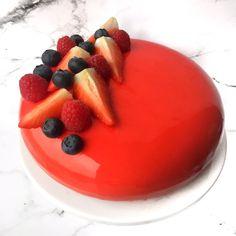Glaze kage med hindbær og chokolade - Mette Skutter Cakes