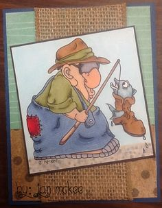 #cards #fisherman  Love this fisherman from Dare 2B Artzy!