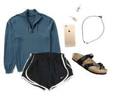 """This ones a lot better :))"" by evebrownn on Polyvore featuring NIKE, J.Crew and Birkenstock"