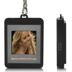 1.5 Inch Color LCD Display Keychain Digital Photo Frame with 8MB Flash Memory can Store up to 107 Photos - Grey