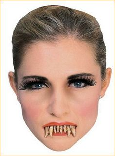 Stay-Put Vampire Teeth Rubies 2129 Dracula Fangs Halloween Movie Quality