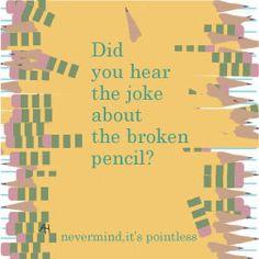 pencil joke lunch note