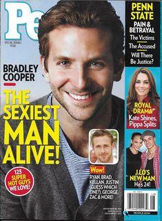 People magazine Sexiest man alive issue Bradley Cooper Penn State John F Kennedy
