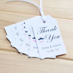 custom wedding tags   Personalized Favor Tags, Rustic Chic set of 100