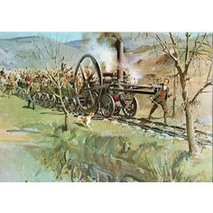 National Museum of Wales Postcard Trevithick's Tramroad Locomotive Terence Cuneo Listing in the Rail,Transportation,Postcards,Collectables Category on eBid United Kingdom National Museum Of Wales, Transport Pictures, Rail Transport, Train Pictures, Steam Engine, Steam Locomotive, United Kingdom, Transportation, Art Photography
