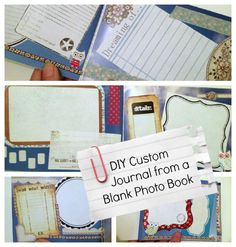 Tutorial: Custom Journal from Blank Photo Book