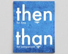 Through Threw Thru Definitions Grammar Poster by GrammaticalArt