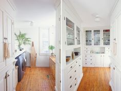 """""""1900 knew how to do a kitchen right. You keep all the necessities in one place, and work happens in the other. The kitchen is mostly a creation room, not mostly a storage room. It's got to be clear and open. This pantry makes it possible."""""""
