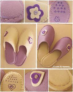 ...Cuore di mamma...: Pantofole handmade