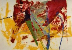 Gerhard Richter. Oil on Paper . Untitled . 1983 #art #painting #abstract #red #yellow #gerhard_richter
