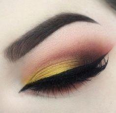 Makeup Geek Eyeshadows in Chickadee, Cocoa Bear, Lemon Drop, Mocha, Peach Smoothie, and Poppy. Look by: Balanceofbeautee