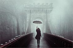 walking over a bridge