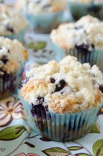 The BEST Blueberry Muffins, seriously! Made them for my husband and his hunting buddies and they all creaked out over them :