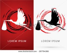 stock-vector--silhouette-stork-delivering-a-newborn-baby-on-cycle-grunge-brush-background-sign-logo-symbol-267794366.jpg (450×358)