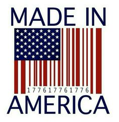 Made in america flag barcode, 1776 I Love America, God Bless America, Made In America, America America, American Pride, American Flag, Outline, Patriotic Pictures, Patriotic Quotes