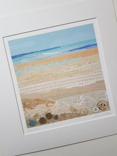 Seascape, textile art print, giclee print #seascapes Textiles, Textile Prints, Textile Art, Art Prints, Thread Painting, Fabric Painting, Fabric Art, Free Motion Embroidery, Embroidery Art