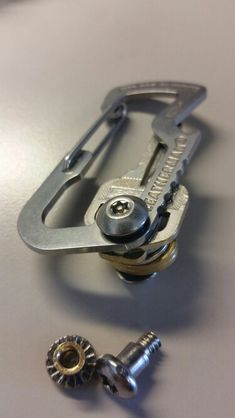 Leatherman Cap lifter MOD. Using tamper proof hard ware and a few O rings I made an easy to use key tool.