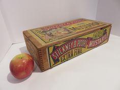 Ebay: Antique Stickney & Poor's mustard box. General Store, Selling On Ebay, Mustard, Decorative Boxes, Antiques, Home Decor, Antiquities, Antique, Decoration Home