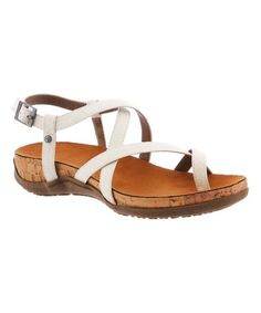 Look what I found on #zulily! White Snake-Embossed Autumn Sandal - Women #zulilyfinds