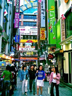 sometimes I miss the bustle of Seoul . . . pretty certain this is myeongdong