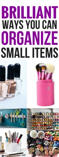These 7 ways to organize small items are THE BEST! I'm so glad I found these amazing organization hacks now I store everything and keep the msuper organized! Pinning this for sure! #organizationtips