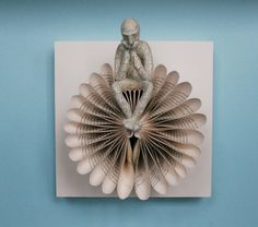 Thinker on Bird in Flight on Claybord (Original Sculpture)