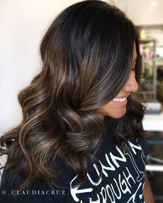 """538 Likes, 4 Comments - Mane Interest (@maneinterest) on Instagram: """"Rich Color by @_claudiacruz_ #hair #hairenvy #hairstyles #haircolor #brunette #balayage…"""""""