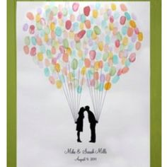 Thumb print guest book, love it! For any occasion!