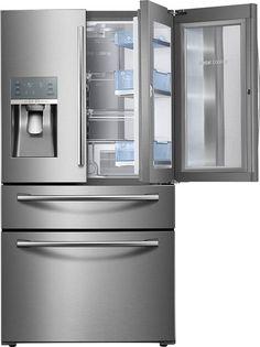 Samsung - Showcase 27.8 Cu. Ft. 4-Door French Door Refrigerator - Stainless Steel