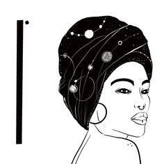 #black #drawing #line #illustration #woman #hair #digitalart #feel #eyes #art #blackandwhite #universe #turban