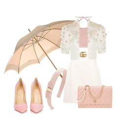 """Parasol"" by jndskiddo ❤ liked on Polyvore featuring Fendi, Salvatore Ferragamo, Marysia Swim, Gucci, Reem Acra, Christian Louboutin and Chanel"