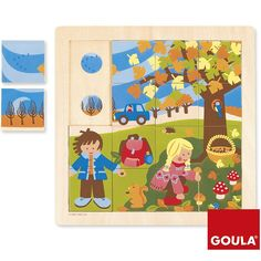 Puzle de madera encajable Oto�o 16 piezas - Goula