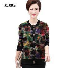 XJXKS Único breasted novo 2017 outono e inverno camisola do natal venda quente todo o jogo mulheres quentes blusas Plus Size Cardigan(China (Mainland))