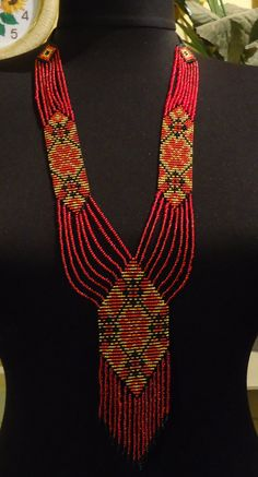 Ukrainian Handmade Jewelry Beaded Necklace ,Gerdan
