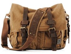 Brown Military Style Messenger Bag Product Description * This military style canvas messenger bag for men...